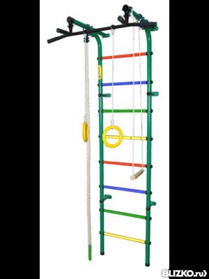 Детский спортивный комплекс Формула здоровья Непоседа-3В Плюс Голубой радуга