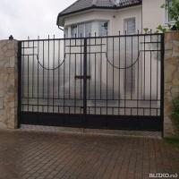 Сварные ворота в омске распашные дачные ворота и калитка цена
