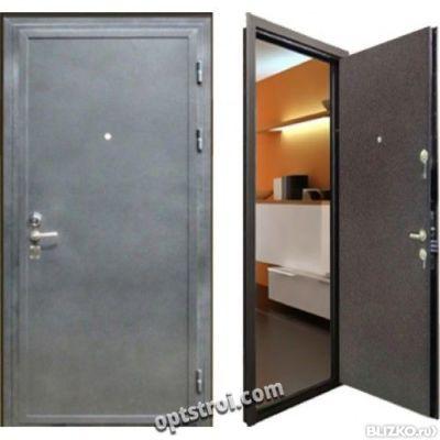 железные двухлистовые двери