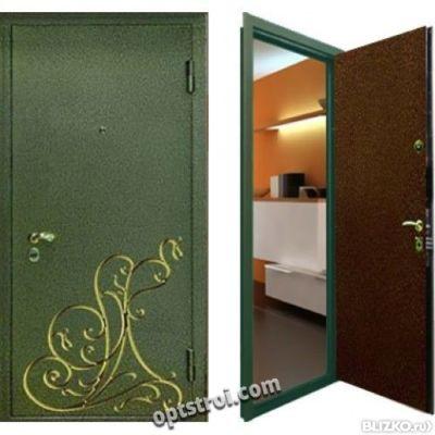 входная дверь двухлистовая дешево
