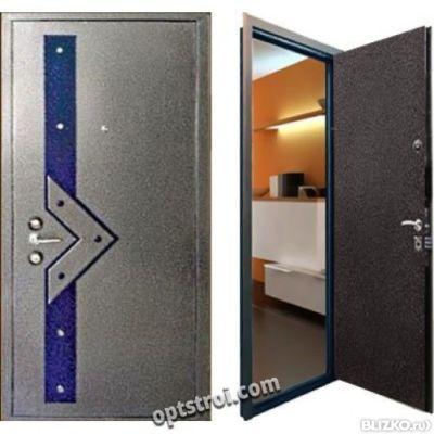 металлические двери двухлистовые порошковое напыление