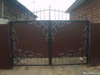 Ворота металлические омск цена ворота в своем доме идеи