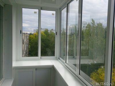 Остекление балконов в московских окнах.