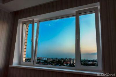 Окно пвх 3створчатое alpenprof 3-камерное 1900х1400 мм без м.