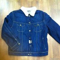 Джинсовая мужская куртка LEE с искусственным мехом