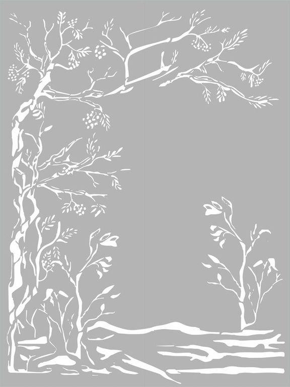картинки для пескоструя деревья стоит